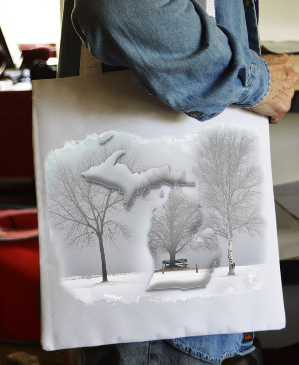 Tote Bag Winter Tree