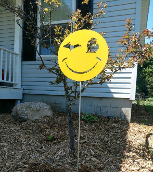 Michigan Happy Face Yard Stake