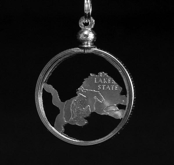 Michigan Lion Quarter Necklace