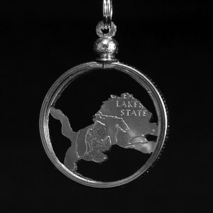 Michigan Lion Quarter Necklace