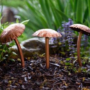 Mushroom Sculpture Trio