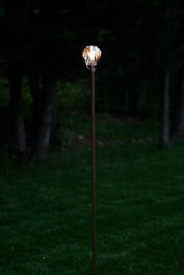 Staff Landscape Light Solid Copper