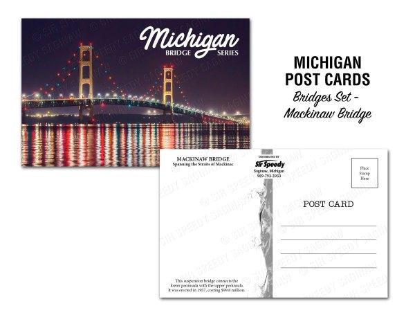 Mackinac Bridge Postcard