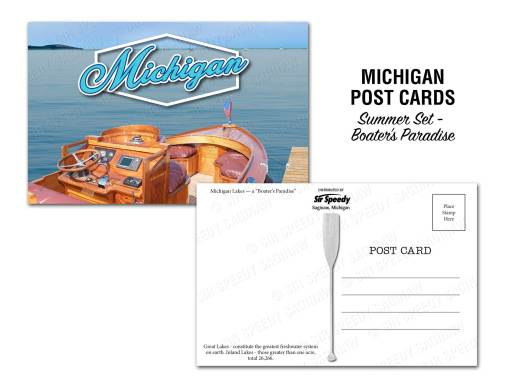 Michigan's Lakes Postcard - Boater's Paradise