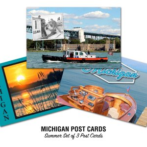 Michigan Boating and Lakes Postcards Summer Set