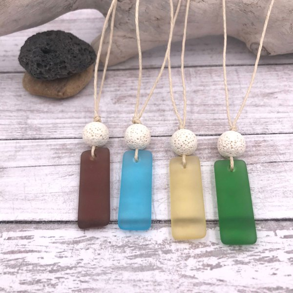 Sea Glass Necklaces Aromatherapy Diffuser