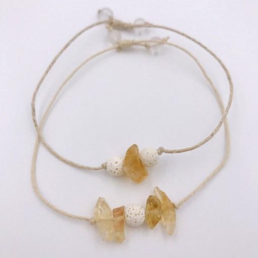 Citrine Aromatherapy Bracelets