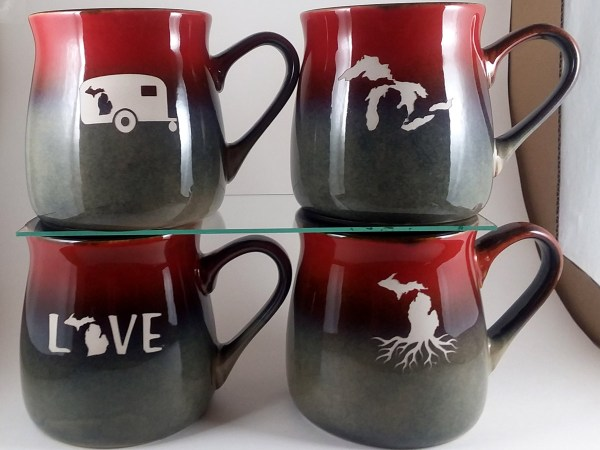 Michigan Tavern Mugs Variegated Rust to Beige