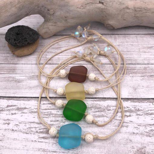 Sea Glass Bracelets Aromatherapy Diffuser