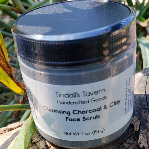 Face Scrub with Charcoal & Kaolin Clay for Oily Skin