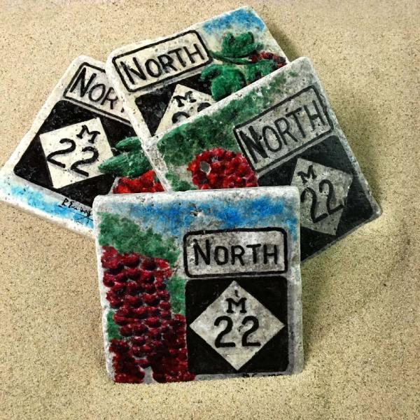M-22 North Wine Trail Coaster Set