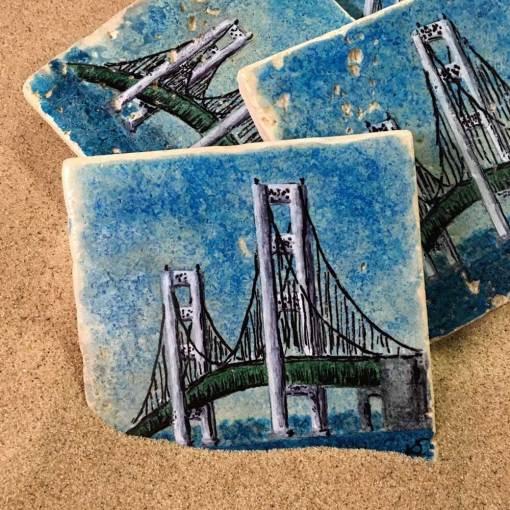 Mackinac Bridge Coaster Set
