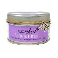 Fresh Bee Candle Lavender Bergamot Lemon