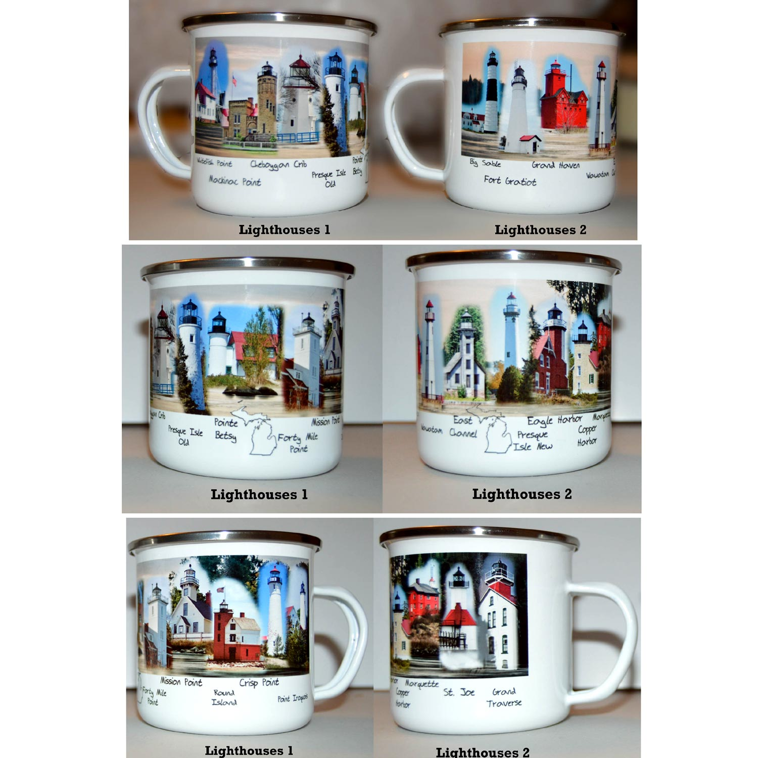 lighthouses camp mugs