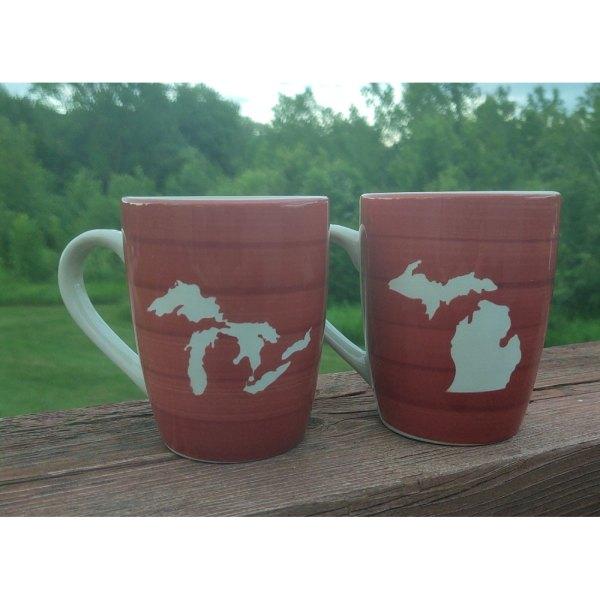 Red Michigan Mugs
