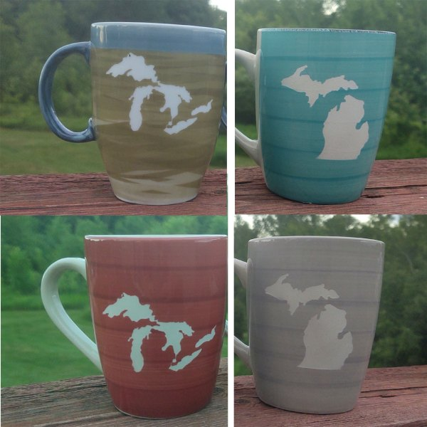 Ceramic Michigan Mugs