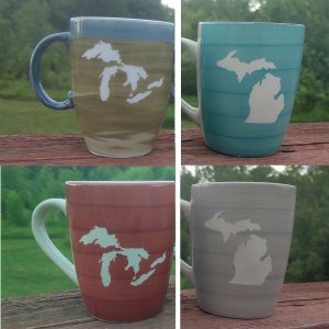 Ceramic Michigan Mugs