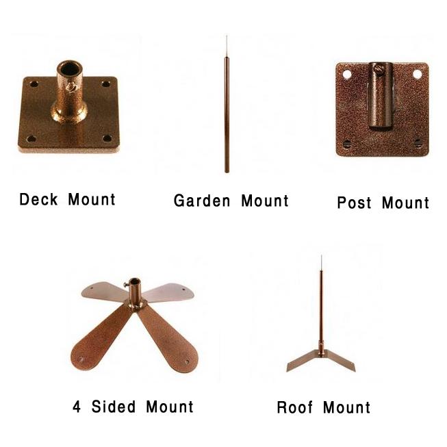 weathervane mounts