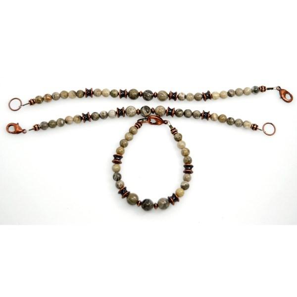 Petoskey Stone Copper Bracelet