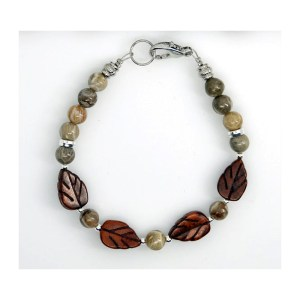 Petoskey Stone and Jasper Bracelet