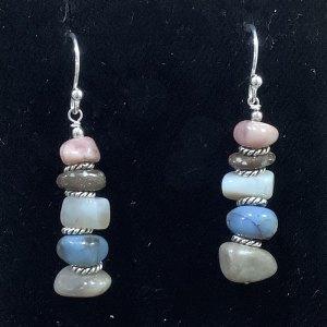 Michigan stone chip earrings