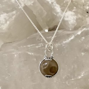 Petoskey Stone Two Prong Necklace