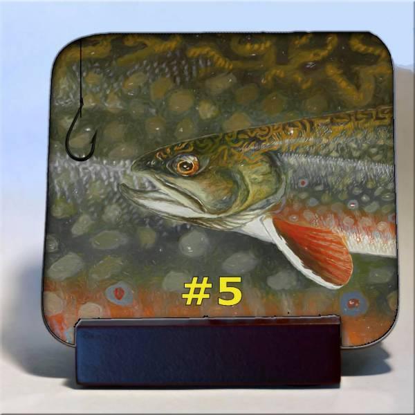 Michigan Fish Coaster #5