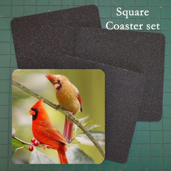 Neoprene Photo Coaster Cardinals
