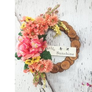 Hello Sunshine Wreath 19 Maple Slice