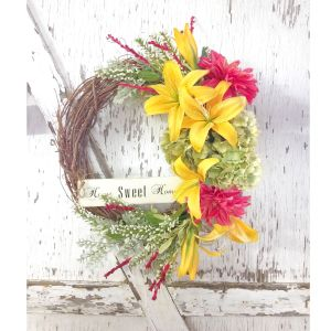 Home Sweet Home Day Lily Grapevine Wreath