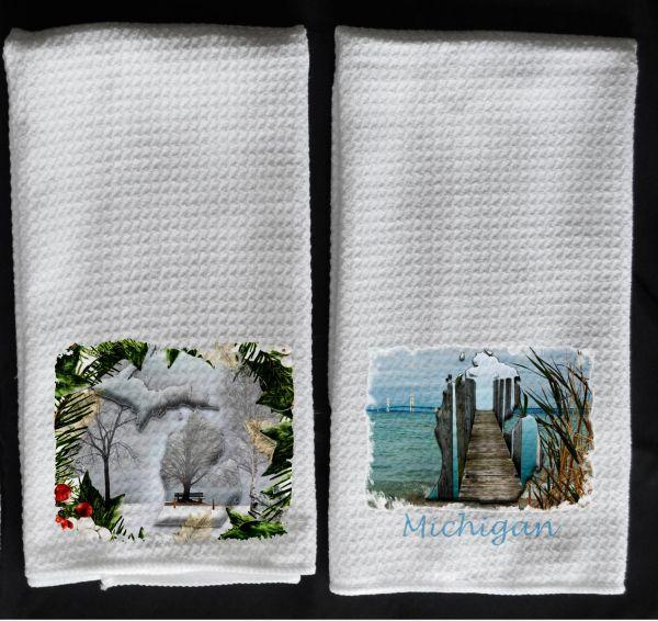 MI pine towel Lower MI towel