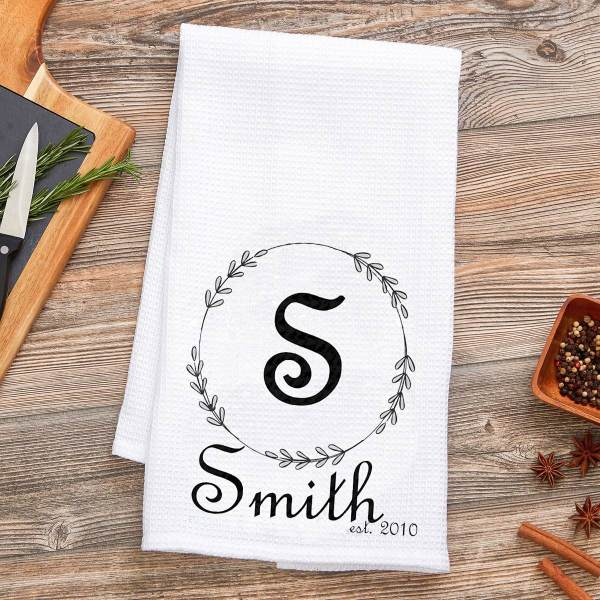 personalized Wreath towels