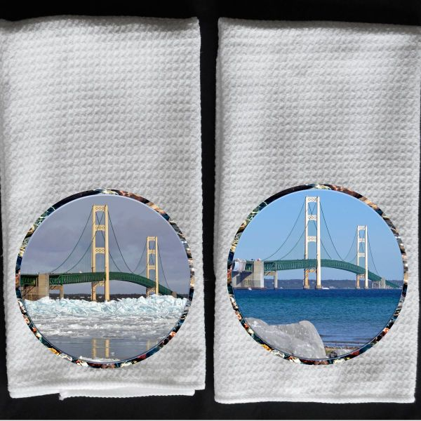 winter Mackinaw Bridge / summer Mackinaw Bridge