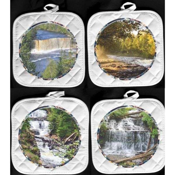 Michigan Waterfalls Pot Holder Hot Pads