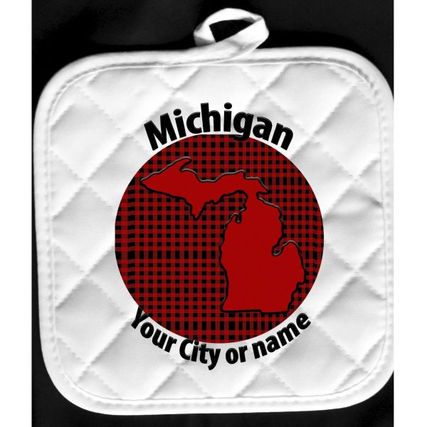 buffalo check Michigan hot pad