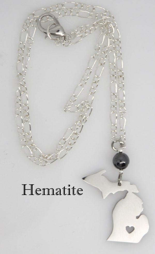 Michigan Necklace Hematite Stone