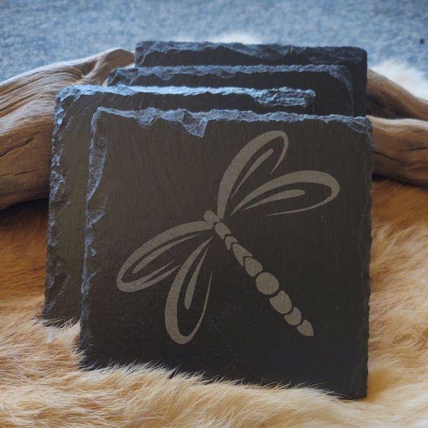 Dragonfly Slate Coaster