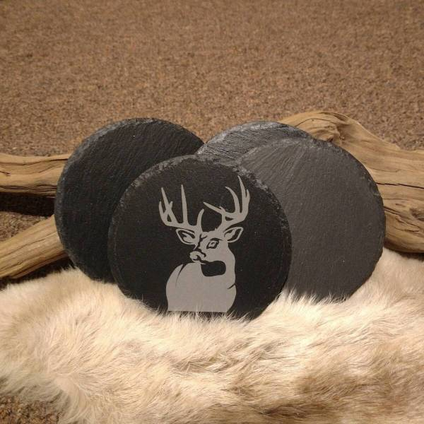 Full Buck Slate Coaster