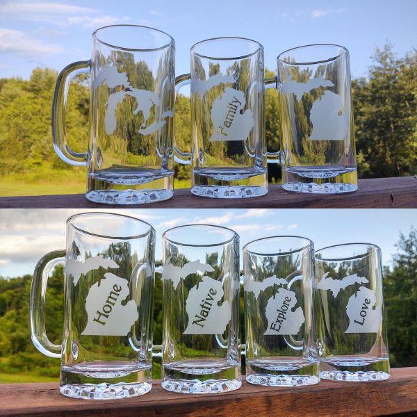 Michigan Theme Beer Steins