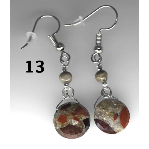 Dangle Pudding Stone Earrings 13