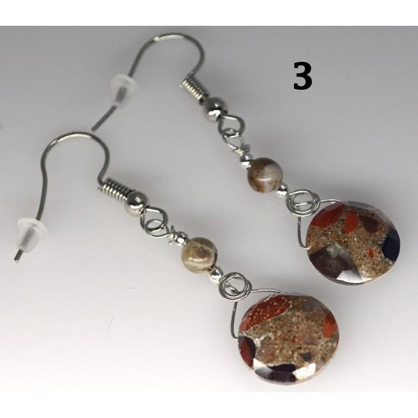 Dangle Pudding Stone Earrings 3