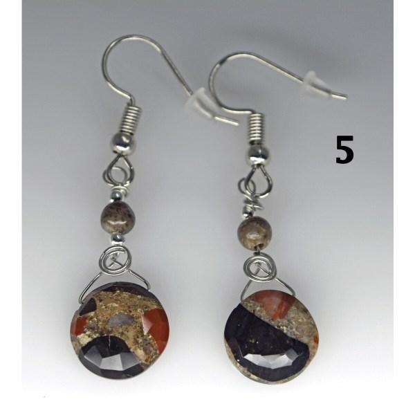 Dangle Pudding Stone Earrings 5