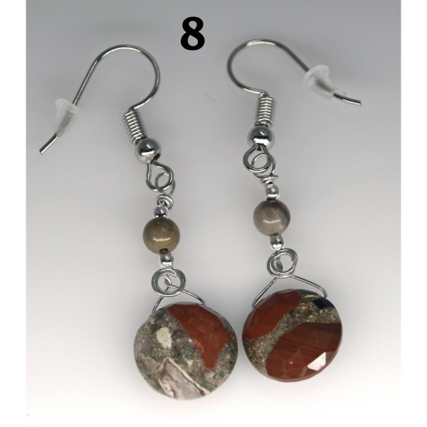 Dangle Pudding Stone Earrings 8