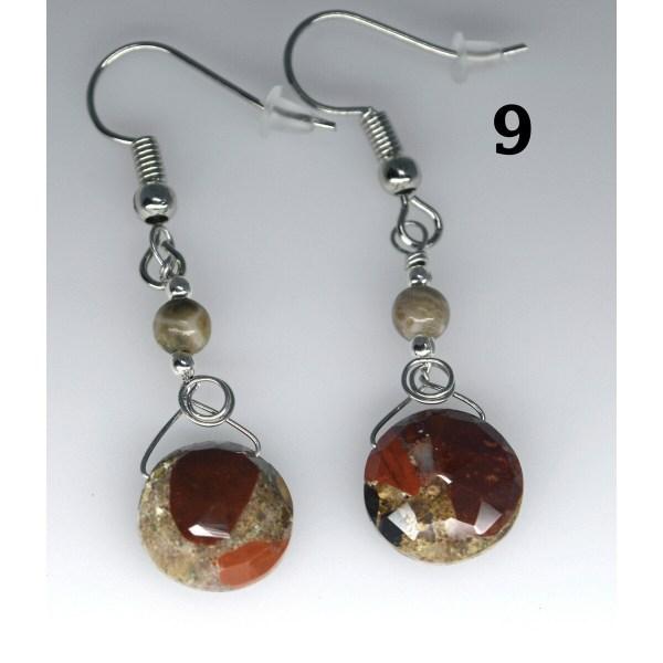 Dangle Pudding Stone Earrings 9