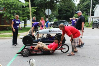 Muscatine Soapbox Derby 2016 starting line