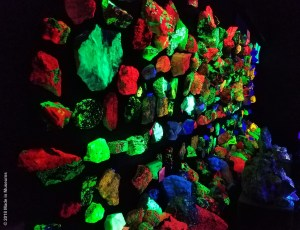Same igneous rocks, but a completely different look when the lights go out.