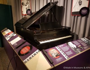 Stevie Wonder's baby grand stage piano used while in school