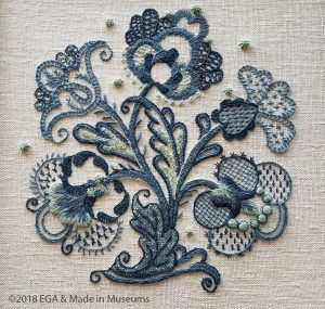 An example of crewelwork - one of my favorite pieces