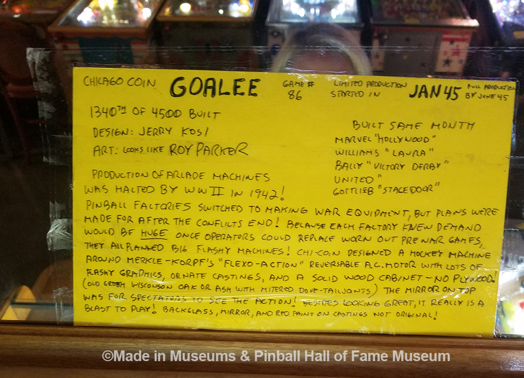Another history card example from the Goalee game