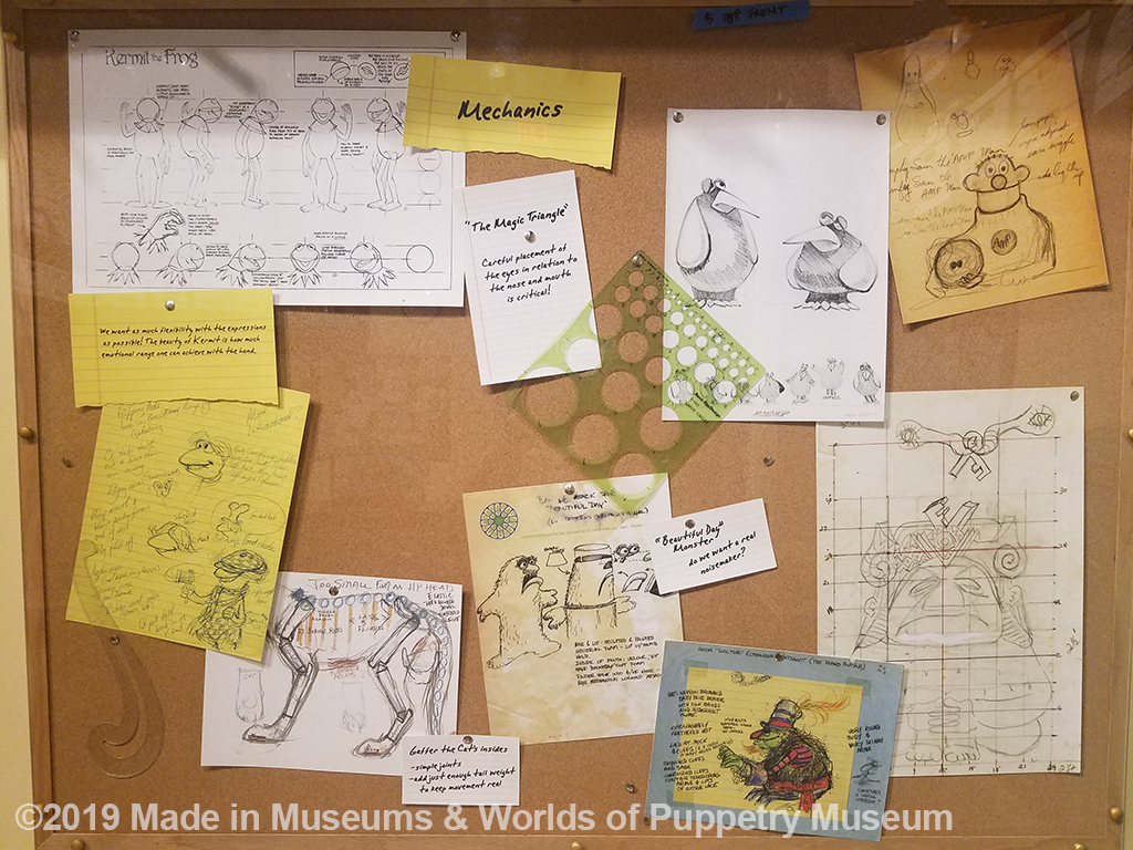 "The ""mechanics"" board focuses on puppet movement."